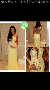 dress,yellow,formal,evening outfits,lace,floral,pageant dresses
