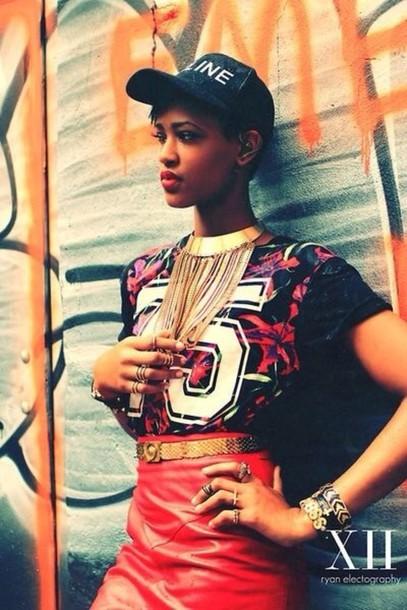 jewels gold chain gold belt black hat 75 shirt urban streetwear tumblr girl  jewelry gold gold 62167792f14