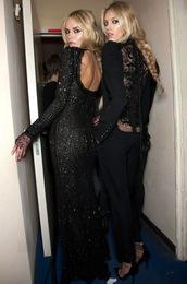 dress,black,sequin dress,backless