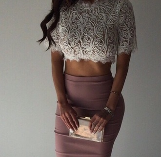 blouse white purple sheer classy design embroider cute dress skirt crop tops