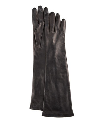 Portolano Elbow-Length Leather Gloves - Neiman Marcus