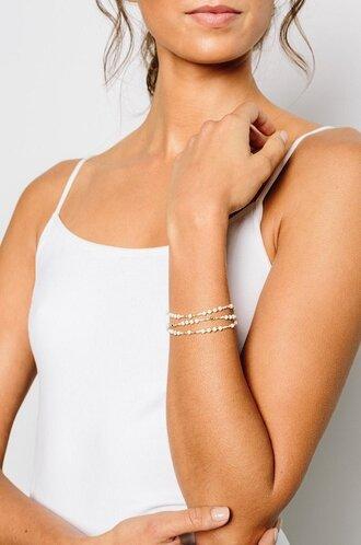 jewels cream wrap bracelet bracelets stacked bracelets bridal bracelet fashionista hand jewelry