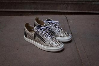 shoes sneakers zanotti giuseppe zanotti shoes zip snake leather