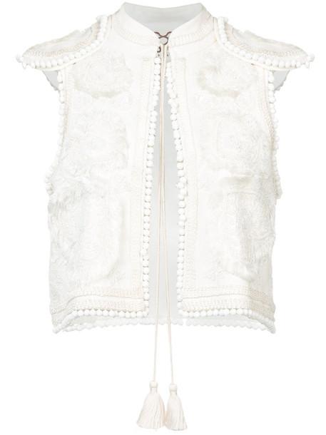 Figue vest women white jacket