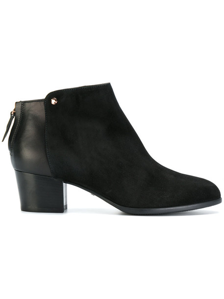 Hogan women ankle boots leather suede black shoes