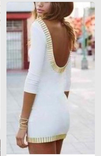 dress short style white dress white and gold dress gold dress pretty homecoming dress short homecoming dresses homecoming white short dress hot dress white and gold