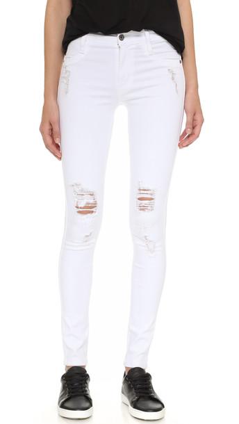 James Jeans Twiggy Ultra Flex Legging Jeans - White Clean Distressed
