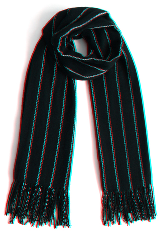 scarf classy striped scarf in black chicwish black