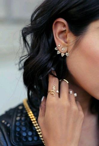 jewels earrings piercing jewelry ear jackets front back earrings trendy style