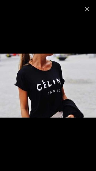 celine paris t-shirt