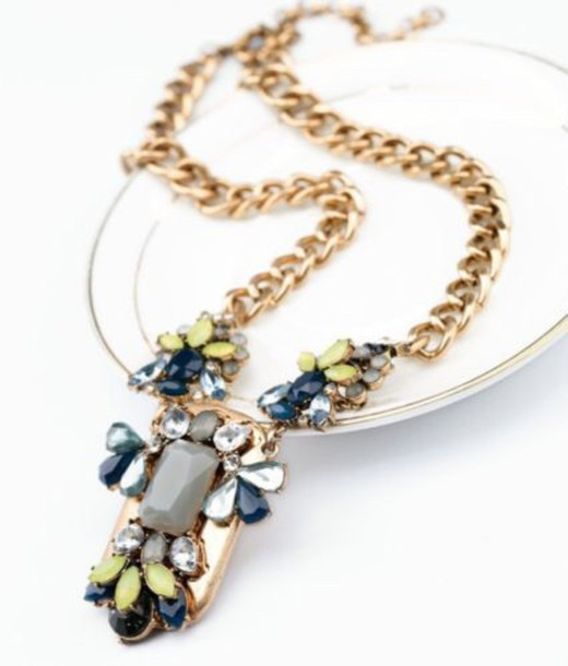 jewels roseandpoeny statement necklace necklace