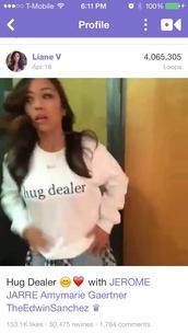 white,hug dealer,sweater