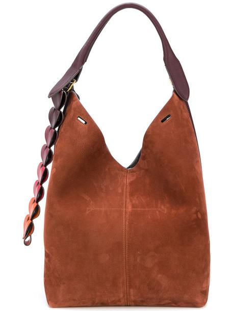 Anya Hindmarch women classic bag bucket bag leather brown