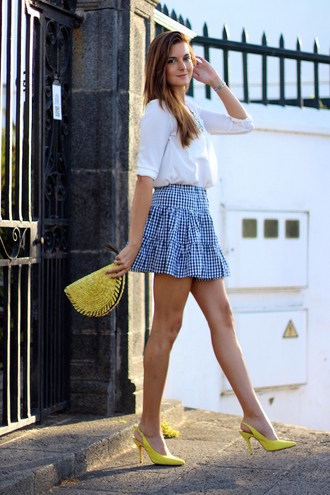 marilyn's closet blog blogger yellow bag gingham pointed toe yellow shoes
