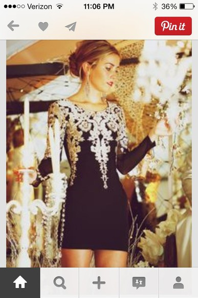 dress new years fancy black silver pretty elegant