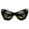 Zagga cat eye sunglasses in black – flyjane