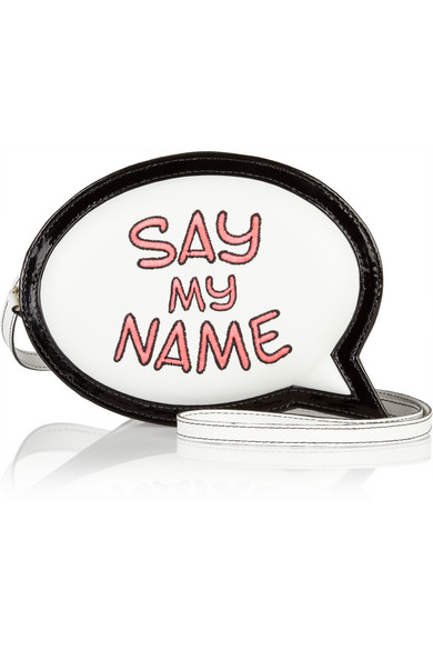 Sophia Webster | Say My Name Speech Bubble leather clutch | NET-A-PORTER.COM
