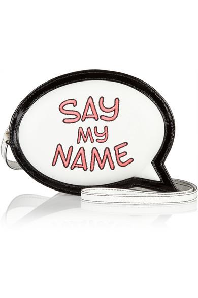 Sophia Webster|Say My Name Speech Bubble leather clutch|NET-A-PORTER.COM