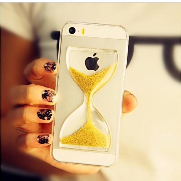 funda iphone reloj de arena