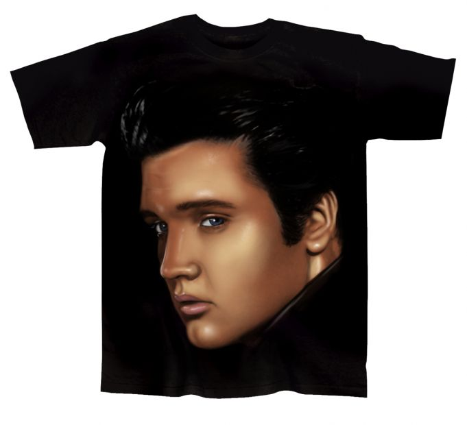 Elvis Presley Color Portrait Juniors T Shirt Elvis Presley Color Portrait Juniors [EP150SHR] - $19.99