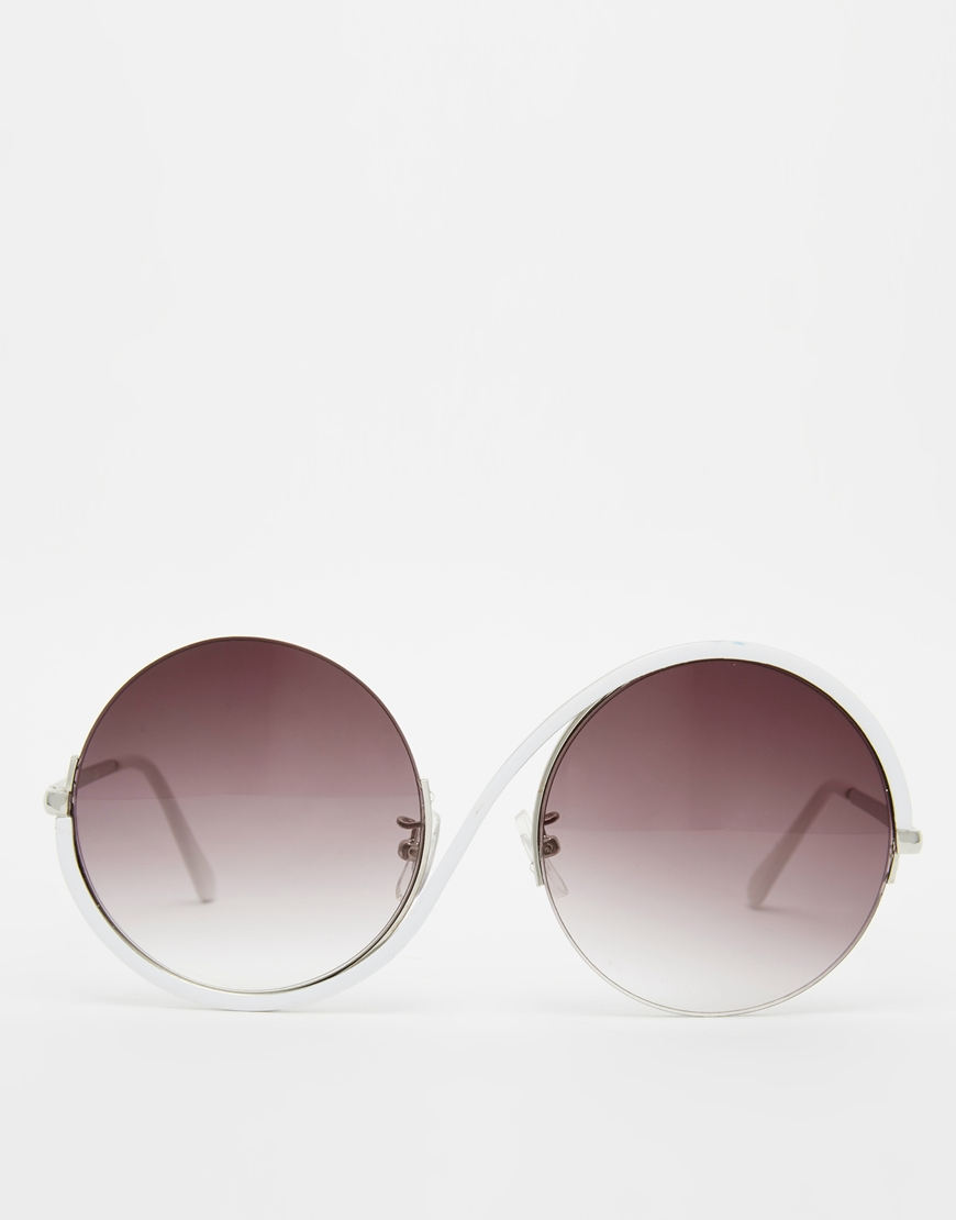 Jeepers Peepers Swirl Round Sunglasses at asos.com