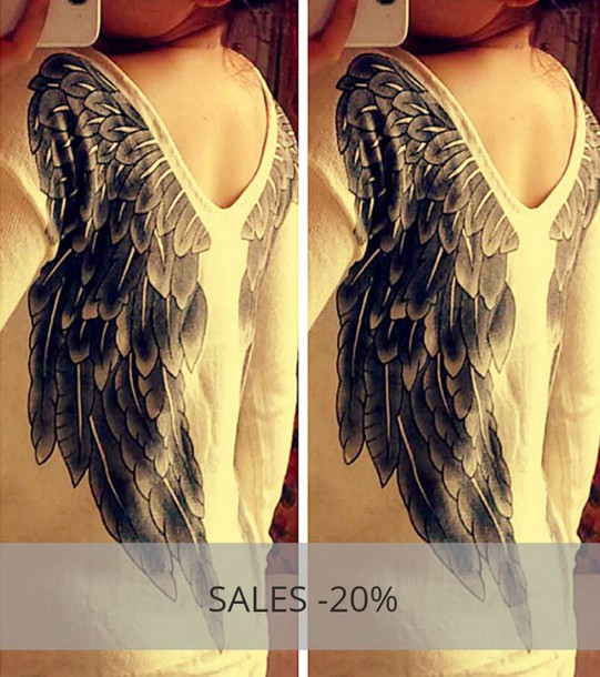 sweater cuutedarling wings pullover ailes