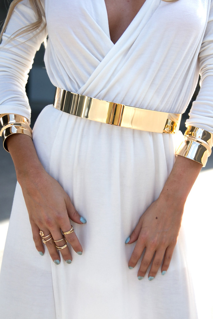 SOLID GOLD PLATED CUFF BELT | Haute & Rebellious