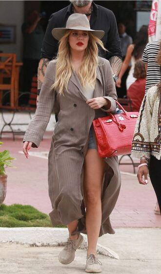 coat sneakers shorts khloe kardashian hat kardashians keeping up with the kardashians