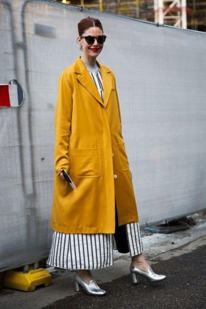 coat yellow coat fall outfits fall colors