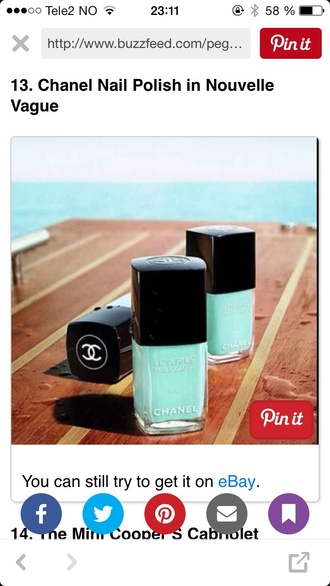 nail polish chanel mint turquoise