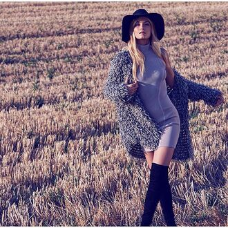 cardigan coat 36683 for love and lemons grey sweater grey fuzzy sweater hippie boho boho chic revolve clothing revolveme gilet