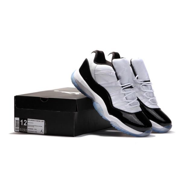 nouveau concept 9c8a8 e93cb Basket jordan 11 Concord basse noir blanc - Air Jordan 11 - Air Jordan Homme