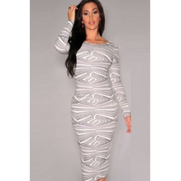 e6a05656e905 bodycon dress dress grey grey dress white midi dress pattern black dress  bandage dress