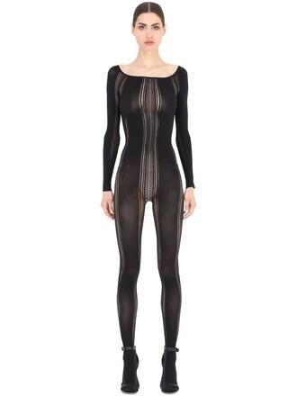 bodysuit embroidered black underwear