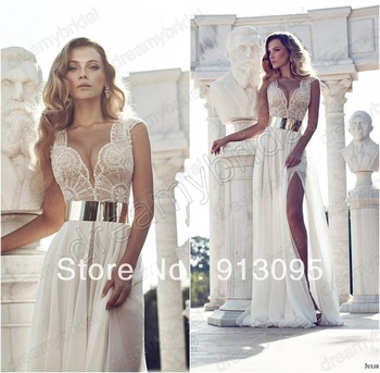 Aliexpress.com : Buy Free shipping Zuhair Murad dress For Sale Sexy one shoulder Gold lace french crystals High quality 2012 formal evening dresses from Reliable dress free suppliers on Suzhou dreamybridal Co.,LTD