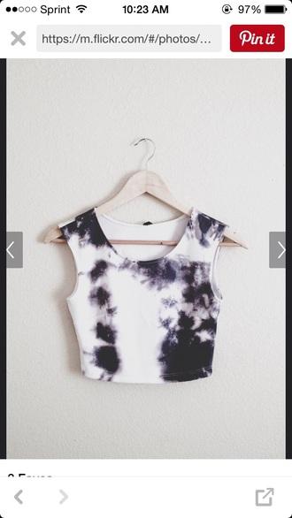 shirt tie dye crop tops navy tank top