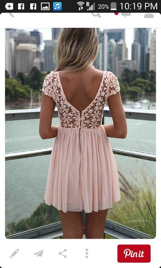 dress lace dress flowers pink dress