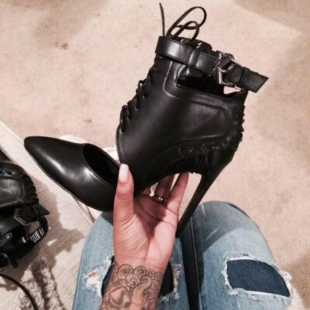 shoes heels straps black heels black stilettos kylie jenner heels strappy heels cut out heels