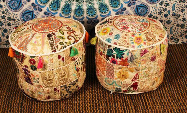 home accessory poufe pouffe vintage pillow footstool bench bedroom boho  bohemian ethnic handmade patchwork white home. Home accessory  poufe  pouffe  vintage  pillow  footstool  bench