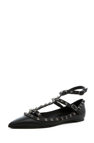 shoes studs flats ballerina