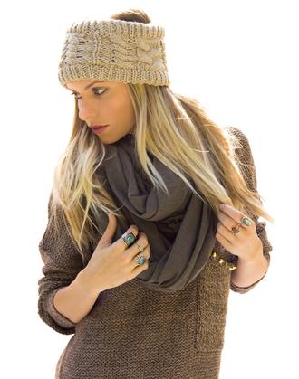 scarf ear warmer sweater knit studded scarves infinity hat wool