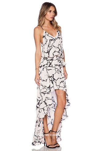 dress asymmetrical asymmetrical dress spaghetti strap spaghetti straps dress maxi dress assymetrical maxi dress printed dress boho bohemian boho dress flowy flowy maxi dress white printed white print white printed dress alma print