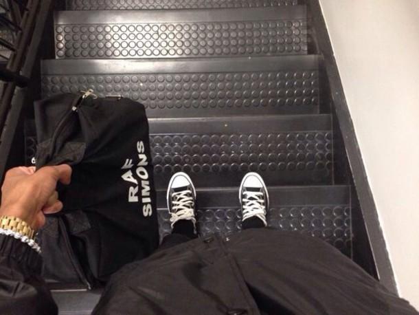 bag raf simons black black bag