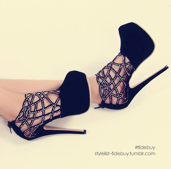 shoes black  high heels high heels black heels, pumps, red, shoes, high heels,