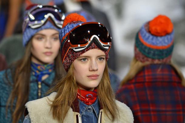 hat pom pom beanie knitted beanie tommy hilfiger fashion week 2015 winter sports