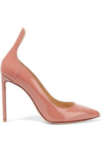 pumps leather rose shoes