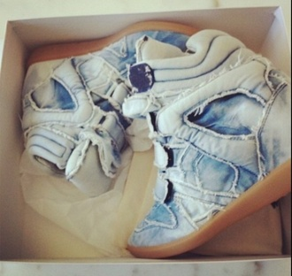 shoes blue jeans isabel marant