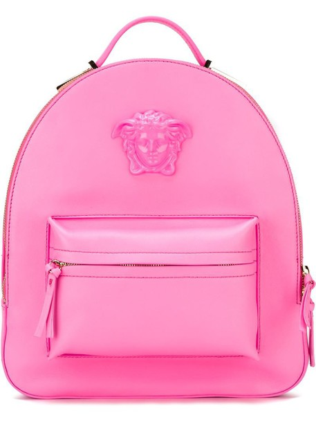 c31d00a235 Versace Medusa backpack in pink   purple - Wheretoget