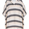 Solid and striped beach cape