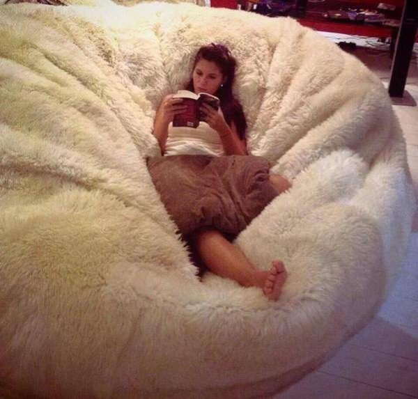 Sheepskin Bean Bag Chair Cover Large Jumbo Designer COLORS 6